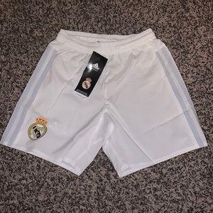 Adidas White Soccer Shorts Boys SZ.XS